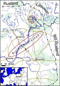 Overzichtskaart PL_KANO2, kanotrektocht Noordoost Polen