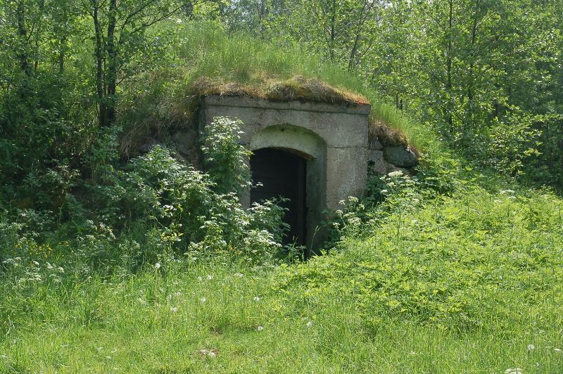 Noordoost Polen Suwalki Landschapspark, voorraadschuurtje op het platteland