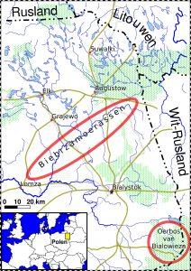 Overzichtskaart vogelreis Biebrzamoerassen en oerbos van Bialowieza Agro Natura