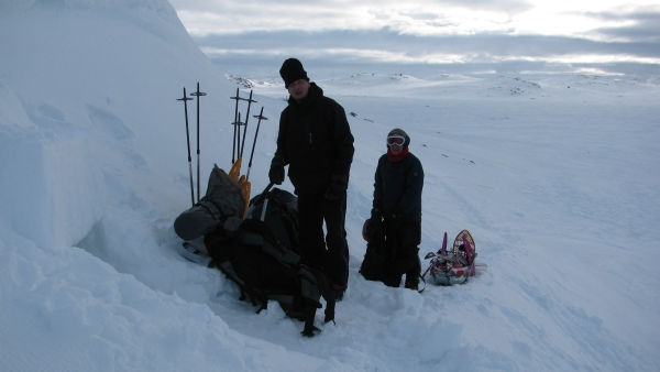 Hardangervidda, sneeuwhol, Agro Natura Sneeuwwandelen