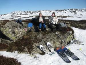 Noorwegen, Rauland, Sneeuwschoenlopen in het Silkedalen