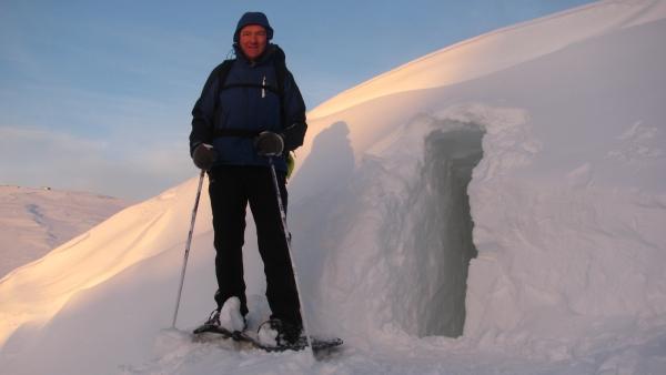 Noorwegen Rauland sneeuwwandelen sneeuwhol, sneeuwwandelreis