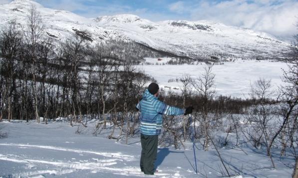 Noorwegen, sneeuwwandelen Rauland