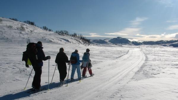 Noorwegen, winterreis Rauland sneeuwwandelen