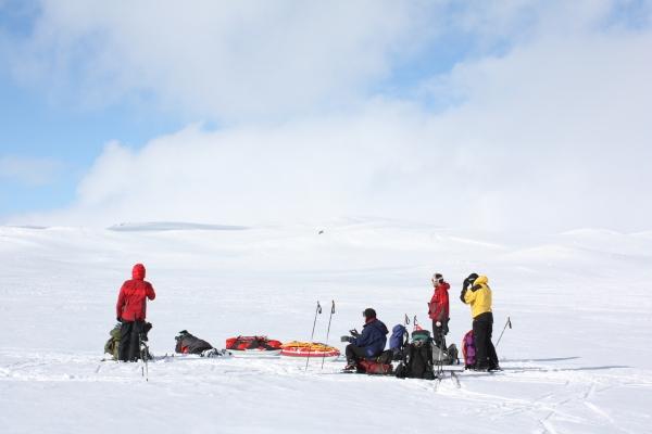 Noorwegen, Hardangervidda, winterreis, trektocht