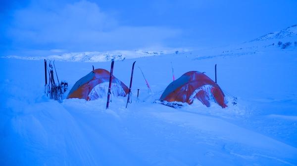 noorwegen, hardangervidda, kamperen in de sneeuw, langlauftrektocht