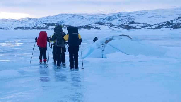Noorwegen, Hardangervidda, sneeuwwandelen