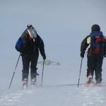 Noorwegen, Hardangervidda, Sneeuwwandelreis, sneeuwwandelen