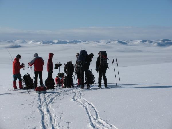 Noorwegen, Hardangervidda, Langlauftrektocht, langlaufreis