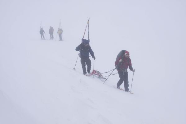 Noorwegen, hardangervidda, winterreis trektocht