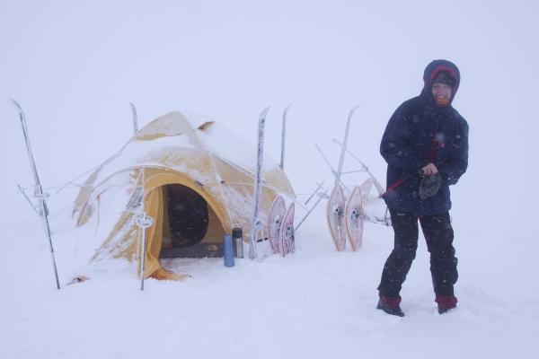 Noorwegen, Hardangervidda, kamperen in de sneeuw