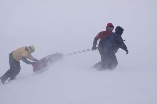 Noorwegen, hardangervidda, winterreis, storm