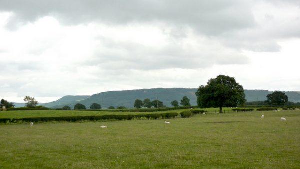 De North York Moors komen in zicht.