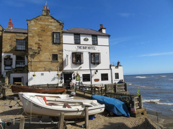 Eindpunt van de Coast to Coast Walk in Robin Hood's Bay