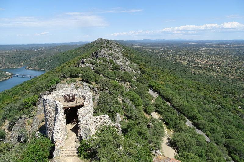 Kasteel van Monfrague in Extremadura