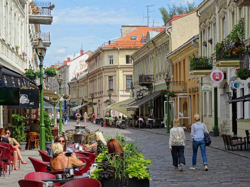 Straatbeeld in Kaunas